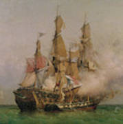 The Taking Of The Kent Art Print by Ambroise Louis Garneray