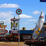 The Tee-pee Curios On Route 66 Nm Art Print