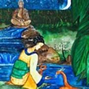 The Temple Garden Art Print