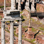 The Temple Of Castor And Pollux At The Forum From The Palatine Art Print
