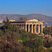 The Temple Of Hephaestus In The Morning, Athens, Greece Art Print