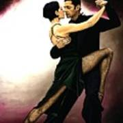 The Temptation Of Tango Art Print