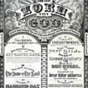 The Ten Commandments 1876 Vintage Poster Restored Art Print