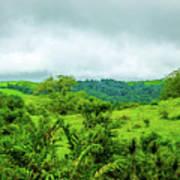 The Terrain Of Costa Rica  Art Print