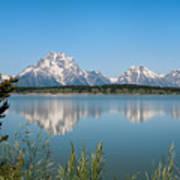 The Tetons On Jackson Lake - Grand Teton National Park Wyoming Art Print