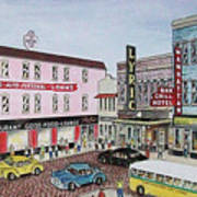 The Theater District Portsmouth Ohio 1948 Art Print