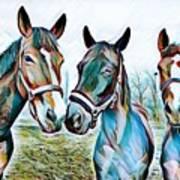 The Three Amigos Art Print