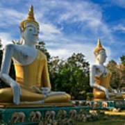The Three Buddhas  Art Print