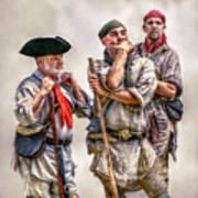 The Three Frontiersmen  Art Print