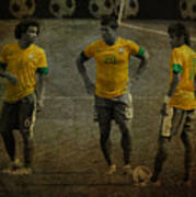 The Three Kings Marcelo Hulk Neymar Os Tres Reis  Art Print