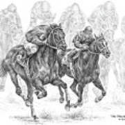 The Thunder Of Hooves - Horse Racing Print Art Print