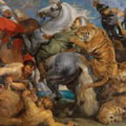 The Tiger Hunt Art Print