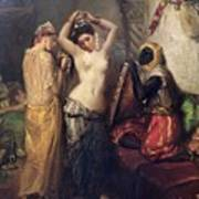 The Toilet In The Seraglio Art Print by Theodore Chasseriau