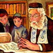 The Torah Scribe Art Print