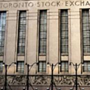 The Toronto Stock Exchange Art Print