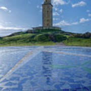 The Tower Of Hercules And The Rose Of The Winds Art Print