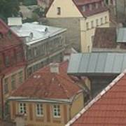 The Towers Of Old Tallinn Estonia Art Print