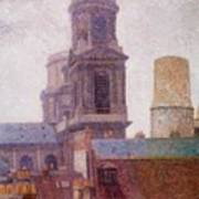 The Towers Saint Sulpice 1887 Art Print