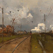 The Train Is Arriving Art Print