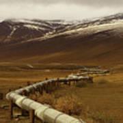 The Trans Alaska Pipeline Art Print