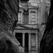 The Treasury - Petra Art Print by Peter Dorrell