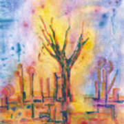 The Tree On The Road. 19 March, 2016 Art Print