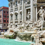 The Trevi Fountain In The City Of Rome Art Print