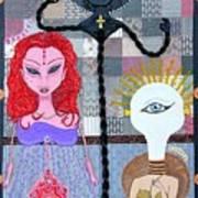 The Trippy Trinity Art Print