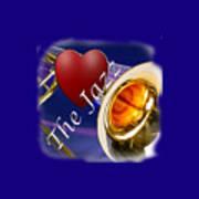 The Trombone Jazz 002 Art Print
