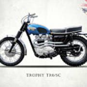 The Trophy Tr6 Sc Motorcycle Art Print