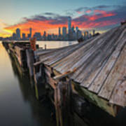 The Twisted Pier Art Print