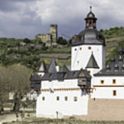 The Two Castles Of Kaub Germany Art Print