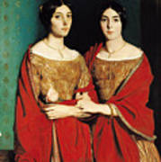 The Two Sisters Art Print by Theodore Chasseriau