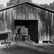 The Undertaker's Wagon Black And White 2 Art Print