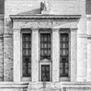 The United States Federal Reserve Bw Art Print