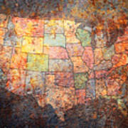 The United States Art Print by Michael Tompsett