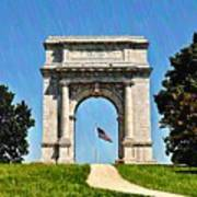 The Valley Forge Arch Art Print