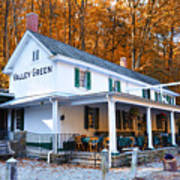 The Valley Green Inn In Autumn Art Print by Bill Cannon
