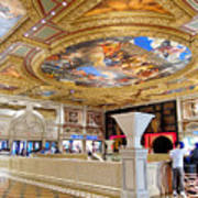 The Venetian Hotel Lobby Art Print