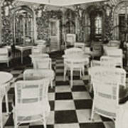 The Verandah Cafe Of The Titanic Art Print by Photo Researchers