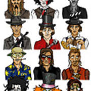 The Versatile Johnny Depp Art Print