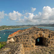 The View From Fort Rodney On Pigeon Island Gros Islet Caribbean Art Print