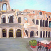 The View Of The Coliseum In Rome Art Print