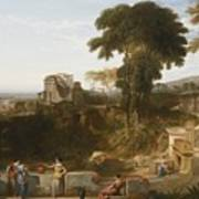 The Villa Fountain Art Print