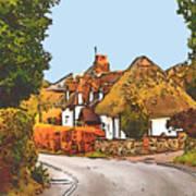 The Village Of Chilbolton Art Print