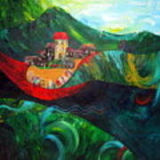 The Village Rivers I Art Print