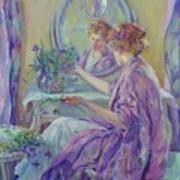 The Violet Kimono 1911 Art Print