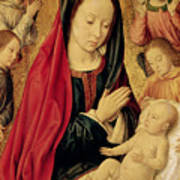 The Virgin And Child Adored By Angels  Art Print