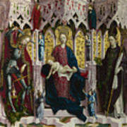 The Virgin And Child Enthroned With Angels And Saints Art Print