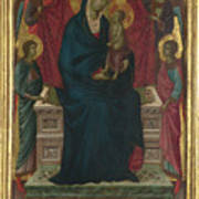 The Virgin And Child With Four Angels Art Print